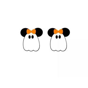 MINNIE Halloween Ghost Stud Earrings NEW